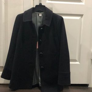 J Crew pea coat black size 6